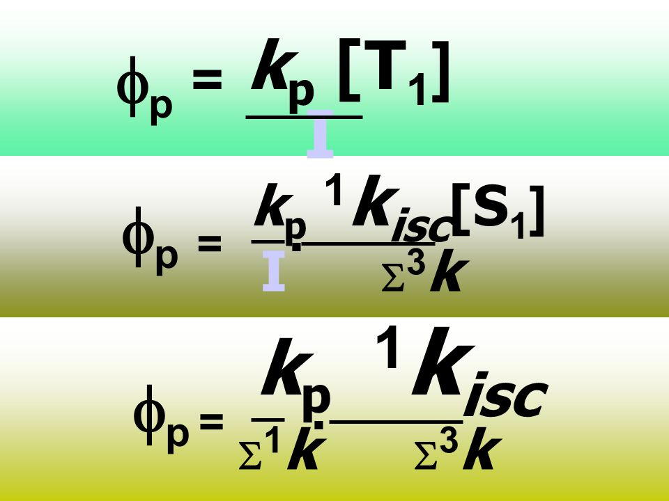 kp [T1] fp = I = kp 1kisc[S1] I S3k . fp = kp 1kisc S1k S3k . fp